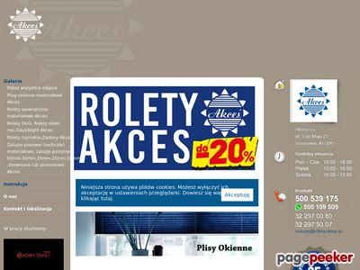 Zaluzje rolety - Akces Sosnowiec