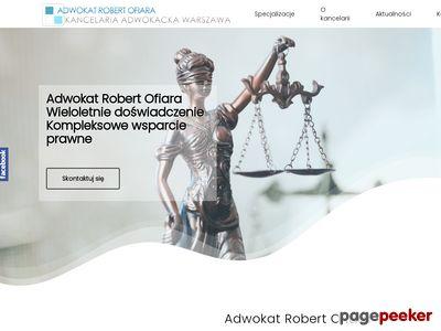 Adwokat Robert Ofiara | Warszawa