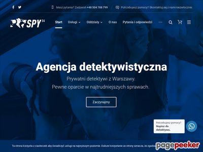 Spy24.pl - usługi detektywistyczne