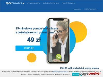 SpecPrawnik.pl - pomoc prawna