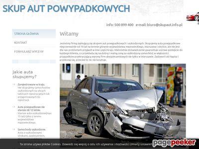 Skup Aut Powypadkowych i Uszkodzonych-Warszawa