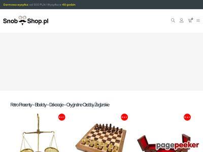 Snob Shop - zegar na biurko