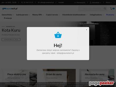 Saunatech.pl - wyposażenie i budowa łaźni parowej