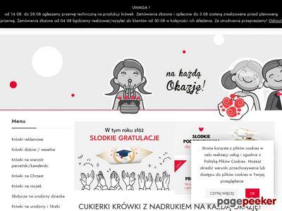 Cukierki z logo - pyszne-krowki.pl