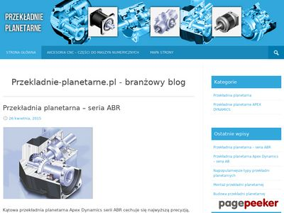 Akcesoria CNC - Przekladnie-Planetarne.com.pl