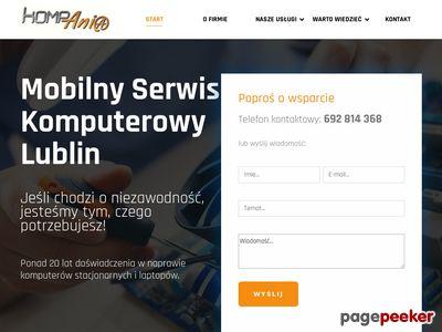 Schludny Mobilny serwis komputerow w Lublinie, darmowy dojaz