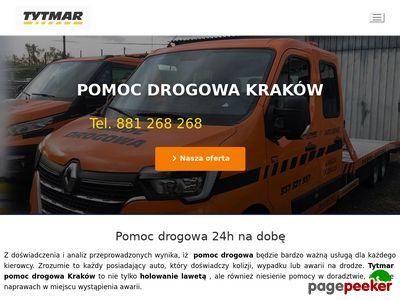 Pomoc drogowa Kraków, laweta, holowanie 24h