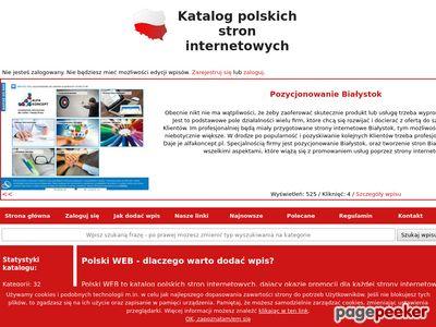 Reklama stron internetowych - katalog polski-web.pl