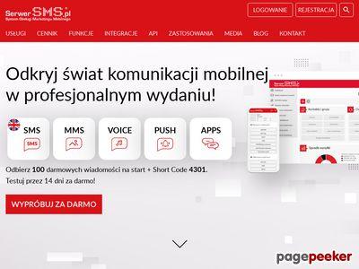 SerwerSMS - wysyłka SMS, powiadomienia SMS