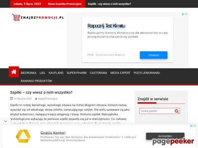 Promocje w sieciach na www.znajdzpromocje.pl