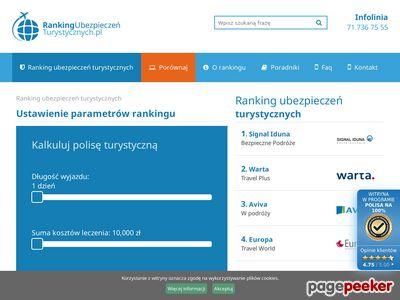 Rankingubezpieczenturystycznych.pl