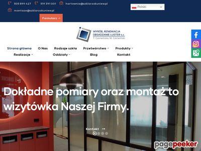 Czerwińscy T.M. ściany szklane warszawa