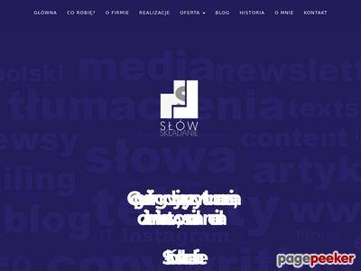 Tworzenie tekstów na stronę