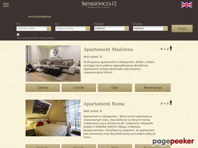 Apartamenty Zakopane Sienkiewicza12.pl