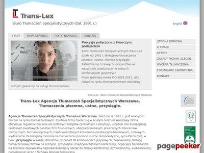 Trans-Lex - Biuro Tłumaczeń Specjalistycznych