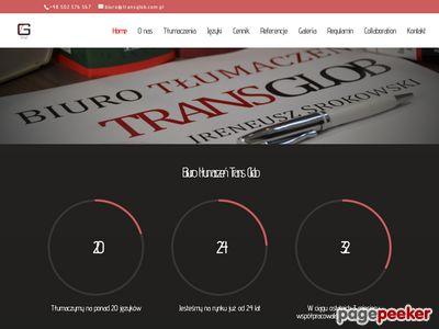Biuro Tłumaczeń TRANS GLOB http://www.transglob.com.pl/