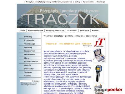 Traczyk.pl - Instalacje, elektryczne, pomiary, kontrola okresow