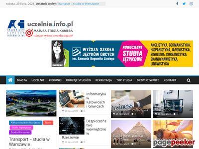 Portal z bazą uczelni