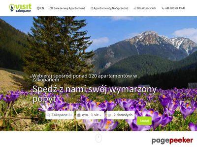 Pensjonat czy apartament Visit Zakopane