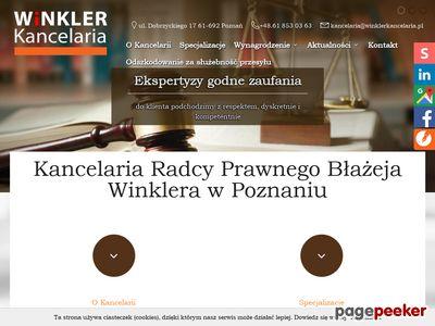 BŁAŻEJ WINKLER kancelarie prawne poznań