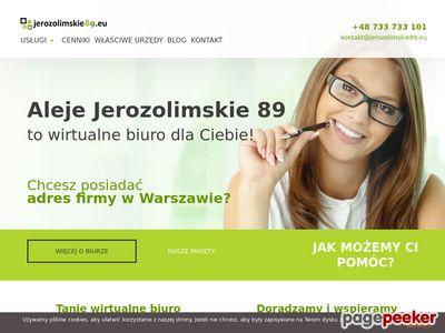 Jerozolimskie89.eu - wirtualne biuro Warszawa centrum