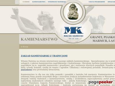 Kubicki Maciej Zakład kamieniarski