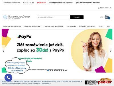 Materace na wymiar - kaszmirowysen.pl