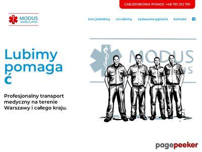 Transport medyczny ModusAmbulans.pl
