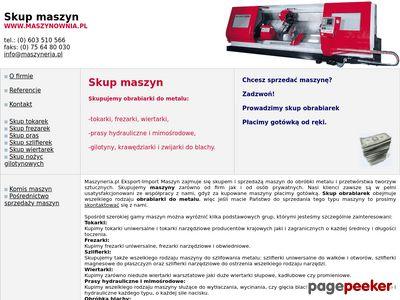 Maszynownia.pl - skup maszyn do metali