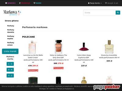 Sklep pełen markowych perfum