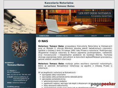 TOMASZ BALAS notariusz katowice