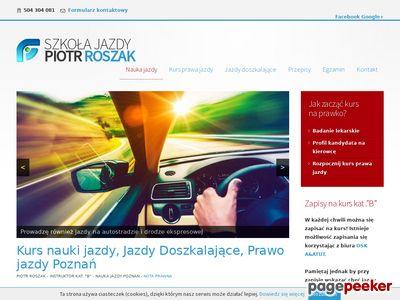 Nauka jazdy poznań - Szkoła jazdy Piotr Roszak