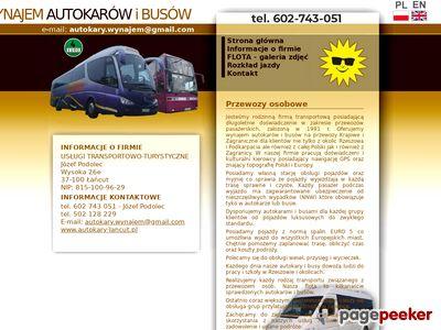 Firma transportowa Łańcut