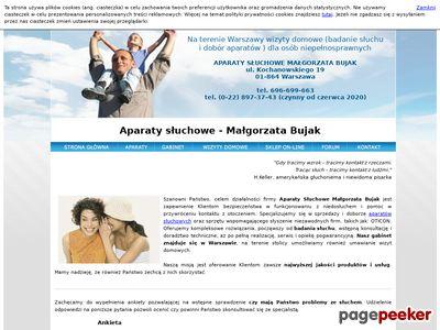 Aparaty słuchowe, badania słuchu Warszawa