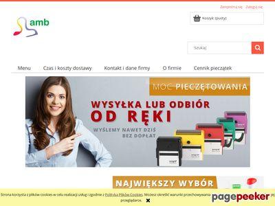 Www.amb.net.pl – pieczątki, wizytówki, druki i datowniki