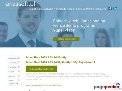 Program płacowy Anzasoft SuperPłace