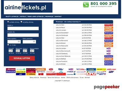 Bilety Lotnicze, Tanie Linie Lotnicze- Airlinetickets.pl