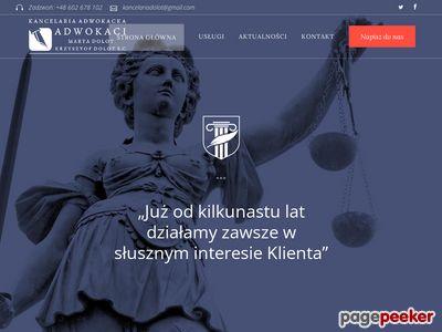 Kancelaria Adwokacka adwokat Krzysztof Dolot