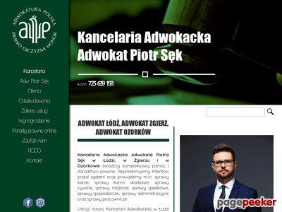 Adwokat Łódź Adwokat Zgierz Piotr Sęk