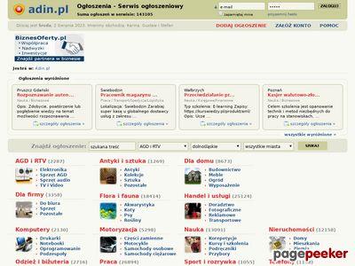 Adin.pl - Serwis ogłoszeniowy