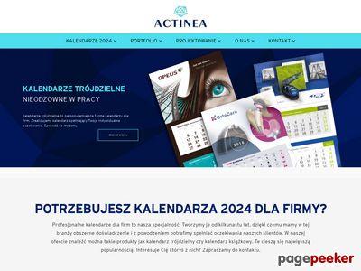 Actinea producent kalendarzy reklamowych