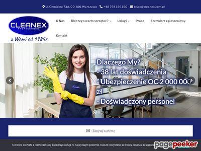Firma sprzątająca warszawa - cleanex.com.pl