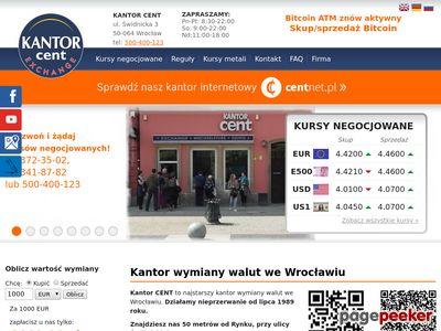 KANTOR CENT Kantory Wrocław nok