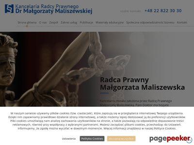 M. MALISZEWSKA doradztwo prawne online