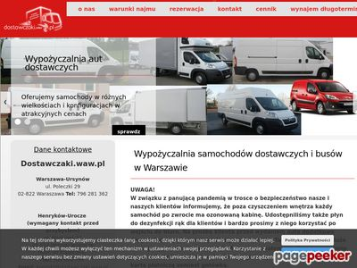 Wypozyczalnia samochodow dostawczych warszawa