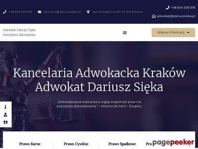 Kancelaria Adwokacka - Adwokat Dariusz Sięka