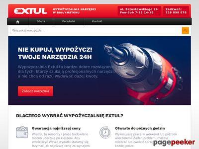 Wypożyczalnia narzędzi Białystok - Extul.pl