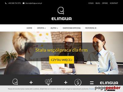 ELingua Centrum Językowe – tłumaczenia Katowice