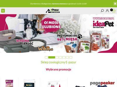 Sklep zoologiczny e-pazur.com Białystok