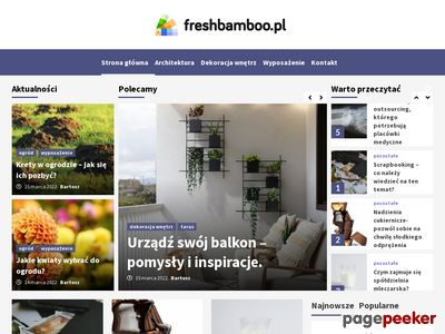 Meble do salonu od Freshbamboo